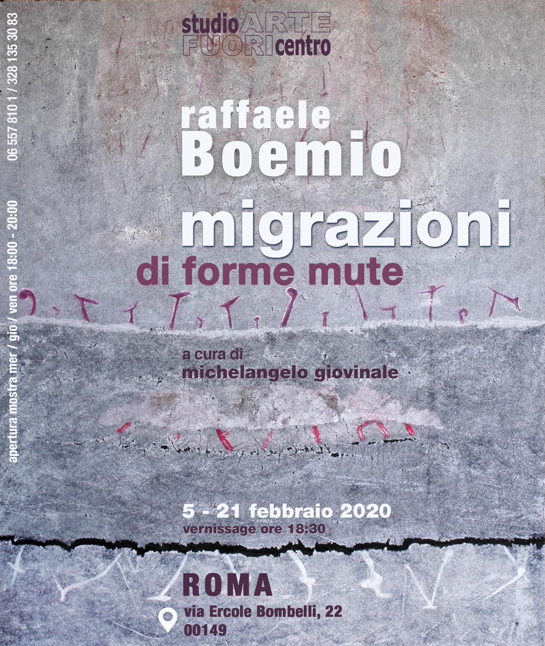 Migrazioni di forme mute  opere di Raffaele Boemio