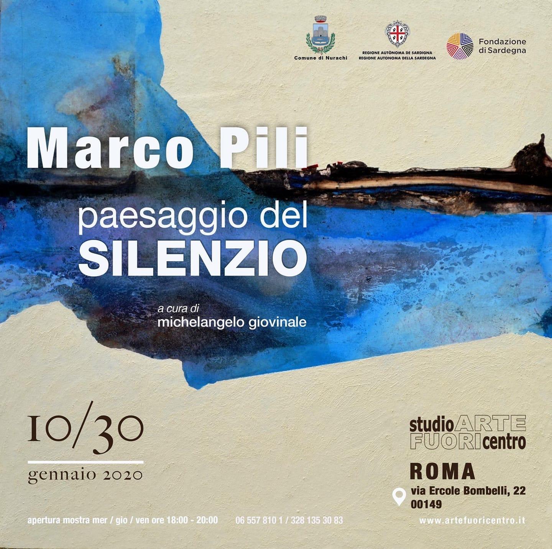 Paesaggio del silenzio  opere di Marco Pili