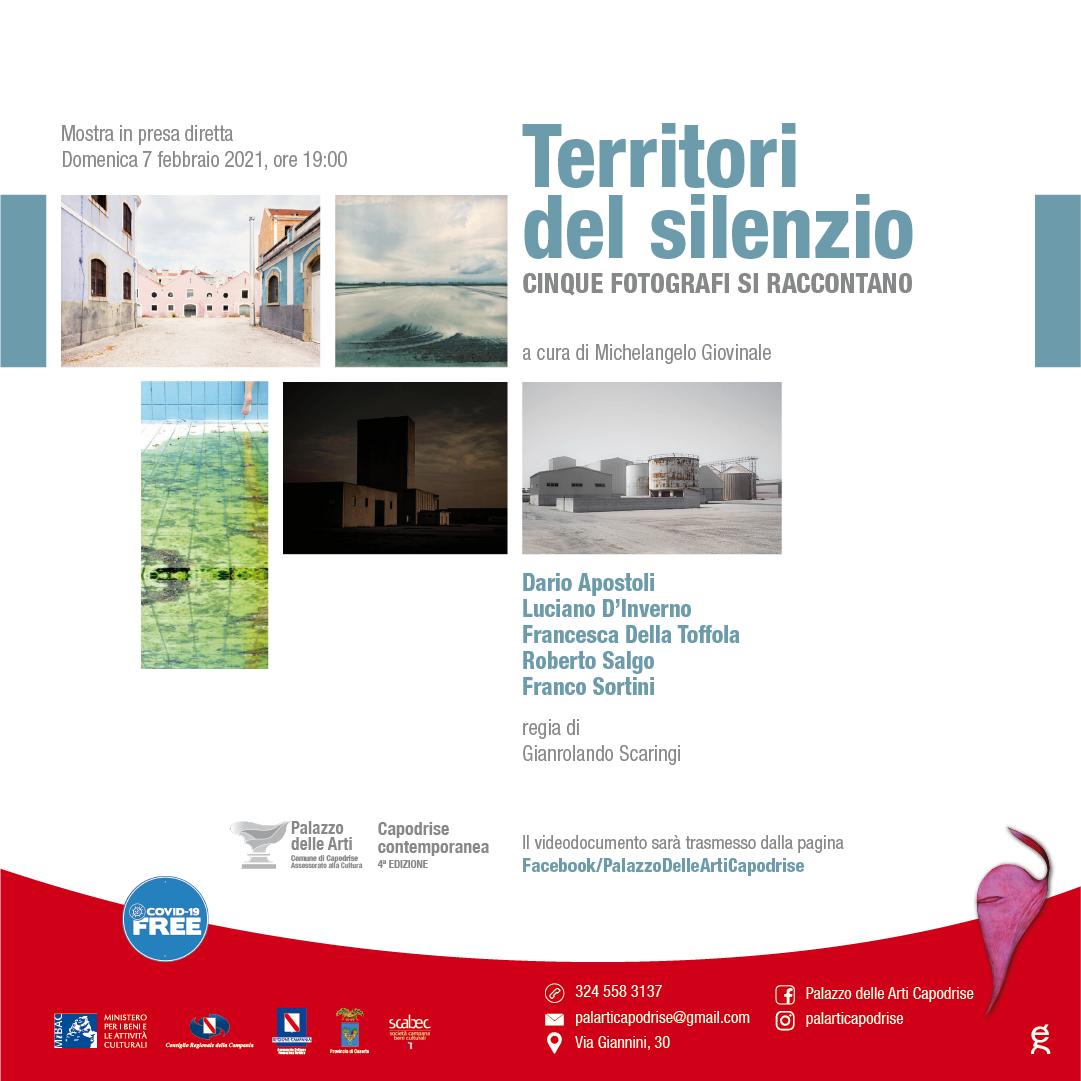 Territori del silenzio  fotografie di Dario Apostoli, Luciano D'Inverno, Roberto Salgo, Franco Sortini, Francesca Della Toffola